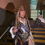 MCM Manchester Comic Con 2016, Cosplay, Cosplayer, Male, Films, Pirates Of The Caribbean, Captain Jack Sparrow , Books, Video Games, Pirate, Anti-Hero, Steampunk, Dreadlocks, Hat, Pirates Ha ...