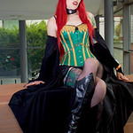 Black, Blue, Boots, Coper, Chains, Choker, Comic, Corset, Cosplayer, Esmee, Fangs, Female, Graphic Novel, Green, High Heeled Boots. Tattoos, High Heels, Indie Comic, Knickers, Lace, Leather, ...