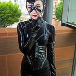 MCM Manchester Comic Con 2016, Cosplay, Cosplayer, Female, Catwoman, Selina Kyle, Batman, Gotham City Sirens, Anti-Hero, Cat Burglar, Gymnast, Whip, Claws, Jumpsuit, Batman Returns, DC Comic ...