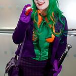 MCM Manchester Comic Con 2016, Cosplay, Cosplayer, Female, The Joker, Batman, Mistah J, Pudding, Villain, Psychopath, Master Criminal, Insane, Jacket, Blouse, Corset, Tie, Bow, Skirt, Tartan ...