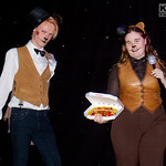 Cosplay, Cosplayers, Male, Female, Manchester Summer Mini Con, Manga, Anime, Video Games, Shirt, Waistcoat, Bow Tie, Jeans, Braces, Jackets, Leather, Top Hat, Cat Ears, Pizza, White, Brown,  ...