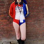 NW Cosplay June Meet 2016, Cosplayer, Female DC Comics, DC, Comics, Film, Video Game, Criminal, Psycho, Psychopath, Villain, Harley Quinn, Suicide Squad, Hotpants, Top, Belt, Bracelets, Spik ...