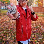 NW Cosplay Halloween Meet 2016, Cosplay, Cosplayer, Male, Anime, Manga, Video Game, RWBY, Neptune Vasilias, Leather Jacket, Shirt, Tie, Pants, Trousers, Wrist Guards, Glasses, Goggles, Sword ...