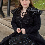 NW Cosplay Summer Meet 2016, Cosplay, Cosplayer, Female, Television, Novels, Fantasy Fiction, Game Of Thrones, Sansa Stark, Sansa, Stark, Dress, Feathers, Necklace, Black, Red, Canopies, Pos ...