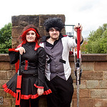 Black, Blade, Cloak, Corset, Cosplay, Cosplayers, Dress, Female, Group Shot, Hood, Jacket, Male, NW Cosplay Summer Meet 2016, Pants, Qrow Branwen, Red, Ruby Rose, RWBY, Shirt, Silver, Sword, ...