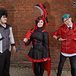 NW Cosplay Summer Meet 2016, Cosplay, Cosplayers, Group Shot, Male, Female, RWBY, Ruby Rose, Qrow Branwen, Neptune Vasilias, Dress, Pants, Corset, Cloak, Hood, Shirt, Jacket, Leather Jacket, ...