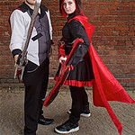 NW Cosplay Summer Meet 2016, Cosplay, Cosplayers, Group Shot, Male, Female, RWBY, Ruby Rose, Qrow Branwen, Dress, Pants, Corset, Cloak, Hood, Shirt, Jacket, Red, Black, White, Silver, Blade, ...