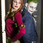 Anti Hero, Batman, Cardigan, Cosplay, Cosplayer, DC, DC Comics, Female, Fishnet Stocking, Green, High Heels, Leafs, Leaves, Palmela Isley, Palmela Ivesy, Poison Ivy, Red, Salford Comic Con 2 ...