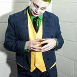 Batman, Black, Cartoons, Comics, Cosplay, Cosplayer, DC, DC Comics, Films, Gloves, Green, Jacket, Makeup, Male, Man, Movies, Pants, Purple, Red, Salford Comic Con 2017, Shoes, Suit, The Joke ...
