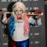 Belt, Black, Blue, Boots, Bracelets, Builds, Cosplay Photoshoot, Cosplayer, Female DC Comics, Fishnet Tights, Gloves, Gold, Good Night, Gun, Harley Quinn, Hotpants, Mallet, Manchester, Manch ...