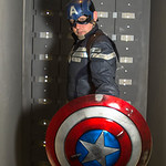 Salford Comic Con 2017, Cosplay, Cosplayer, Male, Man, Captain America, Marvel, Marvel Comics, Films, Movies, Cartoons, Video Games, Avengers, Hero, Mask, Amor, Gloves, Body Amour, Suit, Boo ...