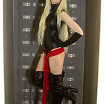 Black, Blonde, Boots, Cartoons, Comics, Cosplay, Cosplayer, Female, Films, Gloves, Gold, High Heeled. Boots, High Heels, Leather, Leotard, Marvel, Marvel Comics, Mask, Movies, Ms Marvel, Red ...