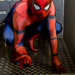 Avengers, Black, Blue, Body Amour, Boots, Comics, Cosplay, Cosplayer, Films, Gloves, Hero, Marvel, Marvel Comics, Mask, Movies, Peter Parker, Red, Salford Comic Con 2017, Spider-Man, Video G ...