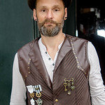 Black, Brown, Cogs, Feathers, Goggles, Gold, Goth, Gothic, Leather, Leather Waistcoat, Male, Man, Medals, Shirt, Steampunk, Top Hat, Waist Coat, WGW, Whitb, Whitby Gothic Weekend, Whitby Got ...