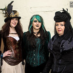 Black, Corset, Female, Goth, Gothic, Green, Headress, Jacket, Lace, Velvet, WGW, Whitby, Whitby Goth Weekend, Whitby Gothic Weekend April 2017, Woman, Black, Blouse, Bronze, Brown, Clasps, C ...