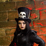 Black, Bones, Boots, Chains, Corset, Fangs, Female, Goth, Gothic, Hat, Jacket, Lace, Leather Jacket, Pants, Rings, Silver, Skull, Top Hat, Vampire, Walking Cane, WGW, Whitby, Whitby Gothic W ...